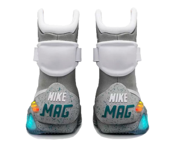 Фото Nike Mags from Back to the Future серые - 1