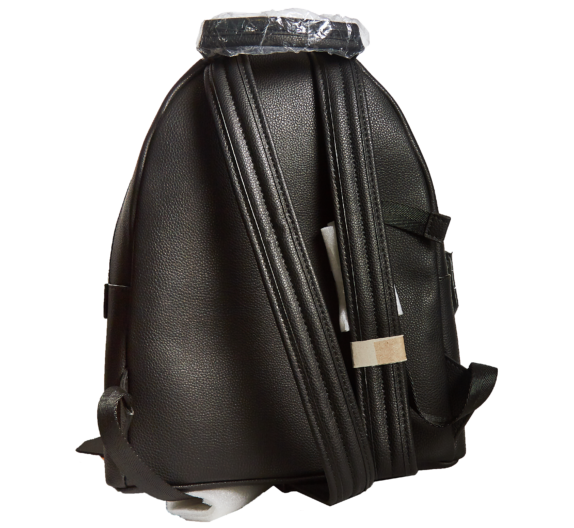 Фото черный кожаный рюкзак - 2