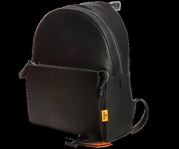 Фото черный кожаный рюкзак - 3